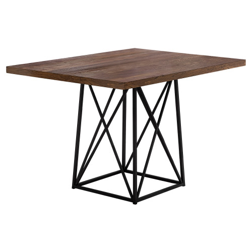 "48"" Black and Brown Contemporary Rectangular Dining Table - IMAGE 1"