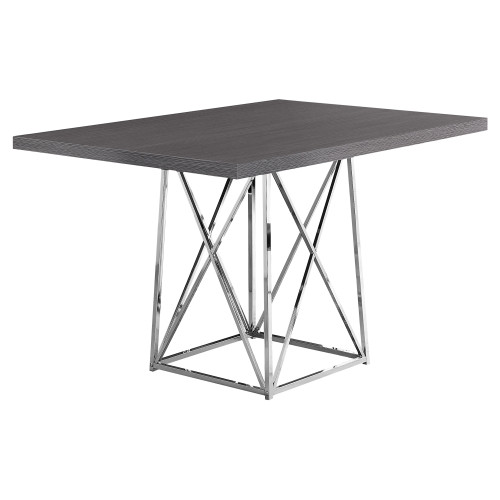 """48"""" Silver and Gray Contemporary Rectangular Dining Table - IMAGE 1"""