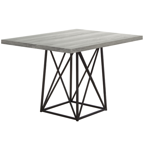 """48"""" Black and Gray Contemporary Rectangular Dining Table - IMAGE 1"""