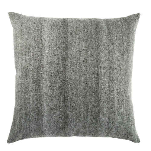 "30"" Charcoal Gray and White Contemporary Square Throw Pillow - IMAGE 1"