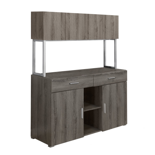 """60"""" Taupe Gray Contemporary Rectangular Office Cabinet - IMAGE 1"""