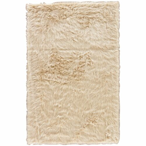 9' x 12' Cream White Contemporary Rectangular Area Throw Rug - IMAGE 1