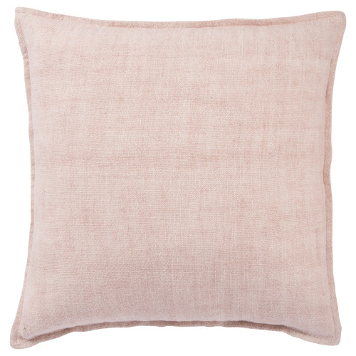 """22"""" Pink Solid Square Throw Pillow with Zipper Closure - IMAGE 1"""