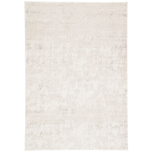 2' x 3' Gray and Beige Distressed Rectangular Area Throw Rug - IMAGE 1