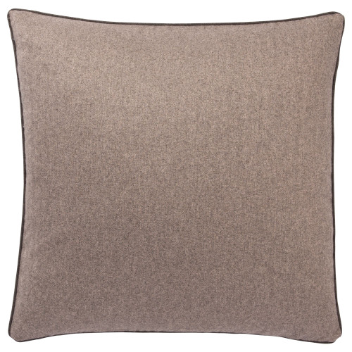 """22"""" Brown Rollins Solid Square Throw Pillow - Down Filler - IMAGE 1"""