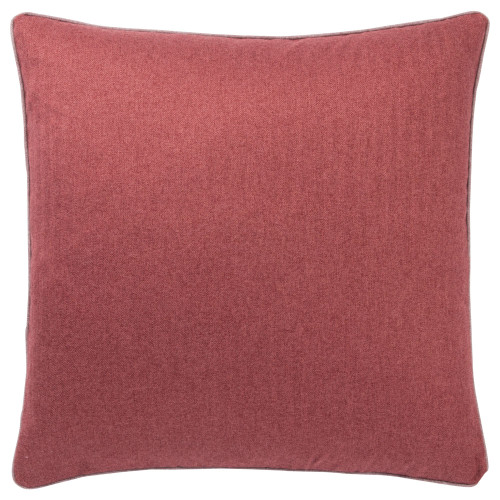 """22"""" Red Rollins Solid Square Throw Pillow - Down Filler - IMAGE 1"""