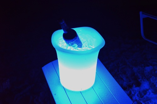 """11"""" Remote Controlled Portable LED Illuminated Color Changing Ice Bucket - IMAGE 1"""