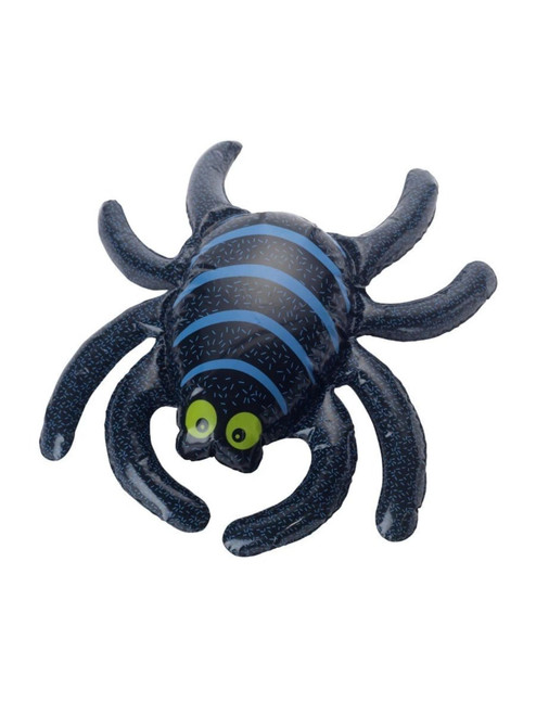 """17"""" Black and Blue Inflatable Spider Halloween Decoration - IMAGE 1"""