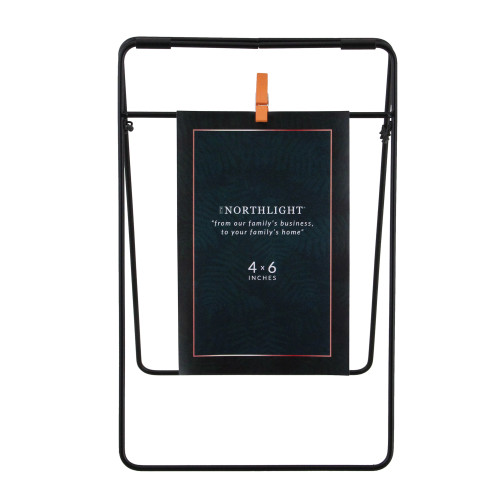 """9.75"""" Contemporary Clip On 4"""" x 6"""" Photo Picture Frame - Black - IMAGE 1"""