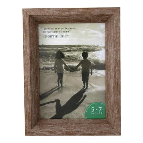 """8.25"""" Classical Rectangular Photo 5"""" x 7"""" Picture Frame - Brown - IMAGE 1"""
