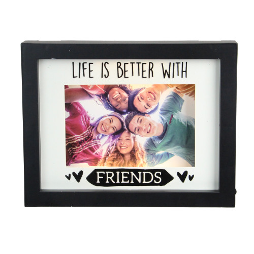 """LED Lighted Life Is Better With Friends Matted Picture Frame - 4"""" x 6"""" - IMAGE 1"""