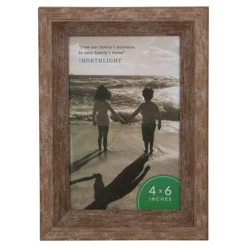 """7.5"""" Classical Rectangular Photo 4"""" x 6"""" Picture Frame - Brown - IMAGE 1"""