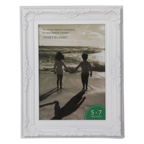 """8.5"""" Classical Rectangular 5"""" x 7"""" Photo Picture Frame - White - IMAGE 1"""