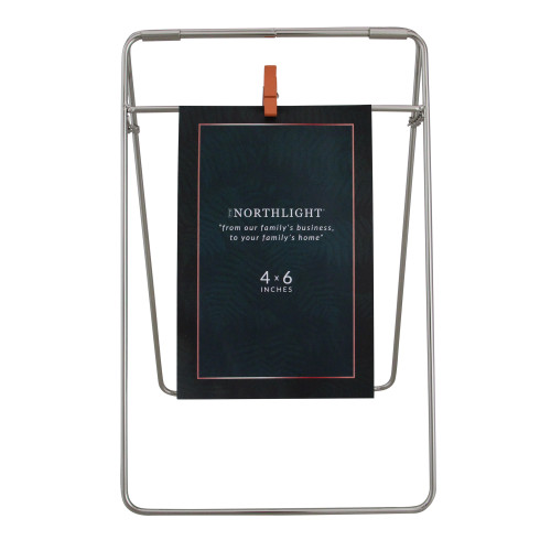 """9.75"""" Contemporary Clip On 4"""" x 6"""" Photo Picture Frame - Silver - IMAGE 1"""