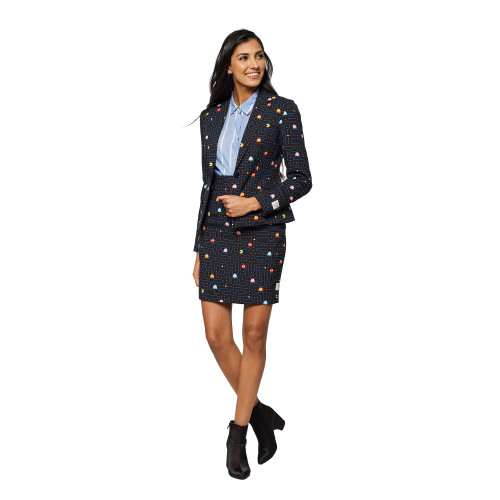 Black and Red Madam Pac Man Women's Adult Suit - US16 - IMAGE 1