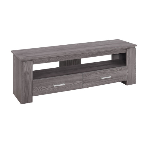 """47.25"""" Gray Contemporary Rectangular TV Stand with Storage Drawers - IMAGE 1"""