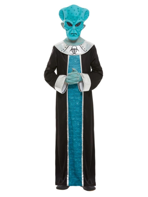 Blue and Black Alien Boy Child Halloween Costume - Small - IMAGE 1