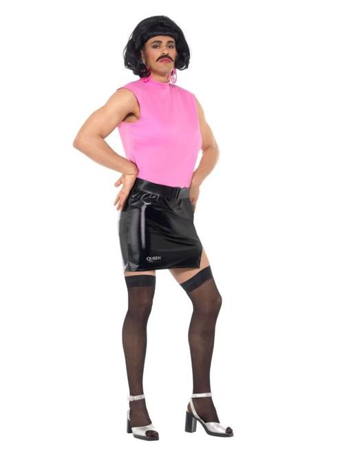 """48"""" Pink and Black Queen Break Free Housewife Men Adult Halloween Costume - Medium - IMAGE 1"""