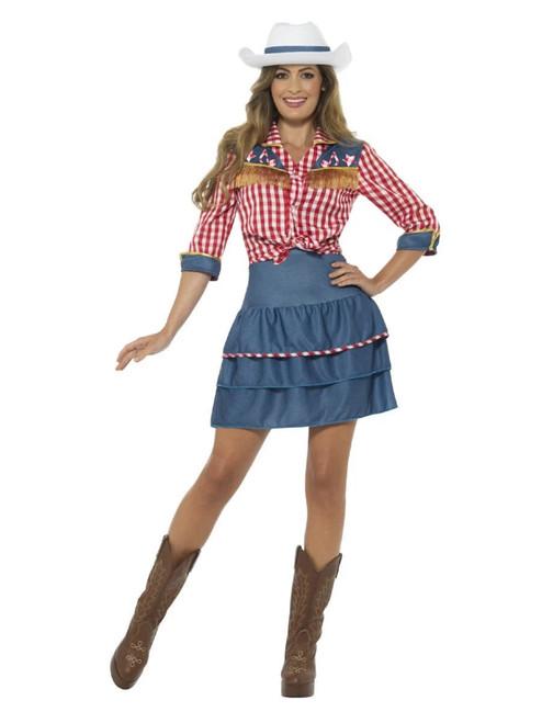RD Mens Costume Fancy Dress Yee-hah Rodeo Wrangler Wild West COWBOY 821126