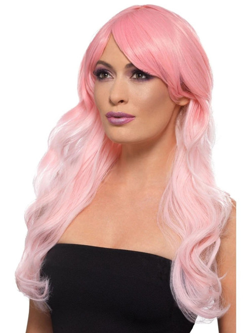 """26"""" Pink Fashion Ombre Long Women Adult Halloween Wig Costume Accessory - One Size - IMAGE 1"""