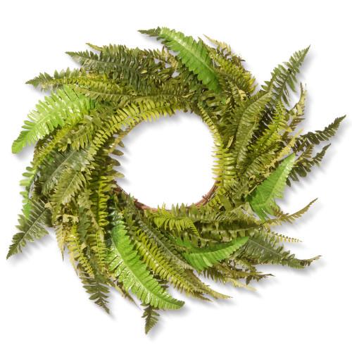 Fern Artificial Wreath - 35-Inch, Unlit - IMAGE 1