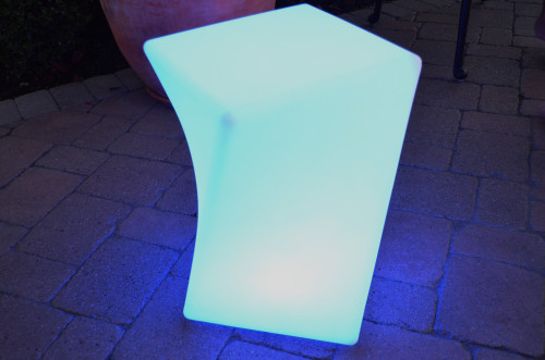 """18"""" Twisted Remote Controlled Portable LED Illuminated Color Changing Chair - IMAGE 1"""