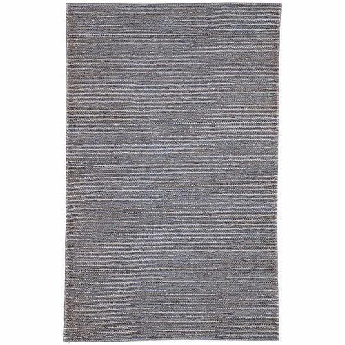5' x 8' Gray Rectangular Hand Loomed Area Throw Rug - IMAGE 1