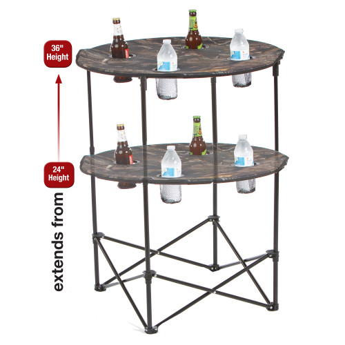 """36"""" Black Scrimmage Tailgate Table - IMAGE 1"""