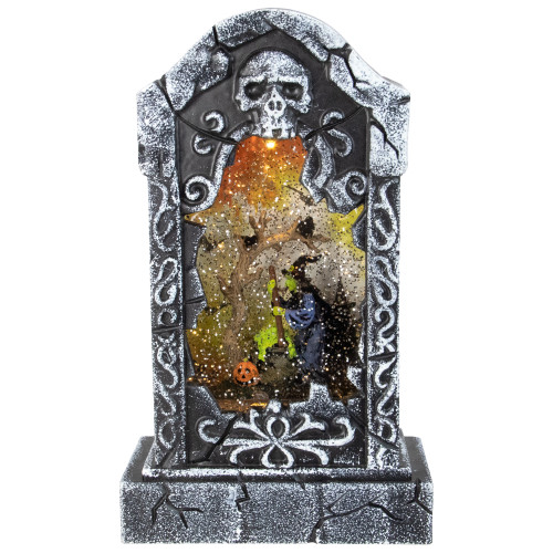 """10.5"""" Battery Operated Witch Scene Halloween LED Water Grave - IMAGE 1"""