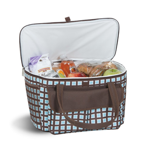 """24"""" Blue and Brown Avanti Cooler Tote - IMAGE 1"""