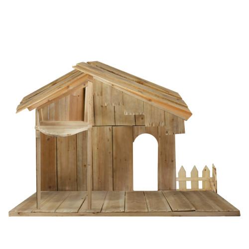 "51"" Christmas Nativity Wood Stable - IMAGE 1"