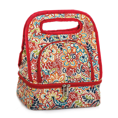 """12"""" Red Savoy Lunch Bag - IMAGE 1"""