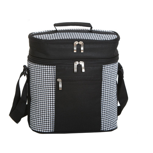 """12"""" Black and White Insulated Cooler Bag - IMAGE 1"""