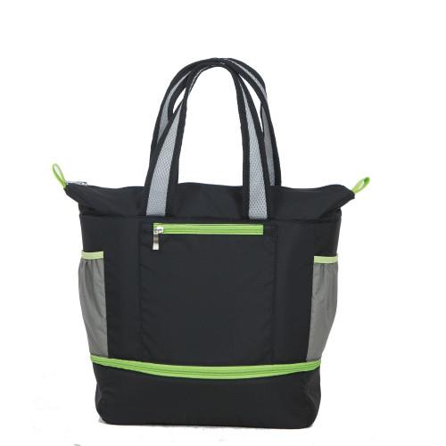 "15"" Helix Black Expandable Cooler Bag - IMAGE 1"