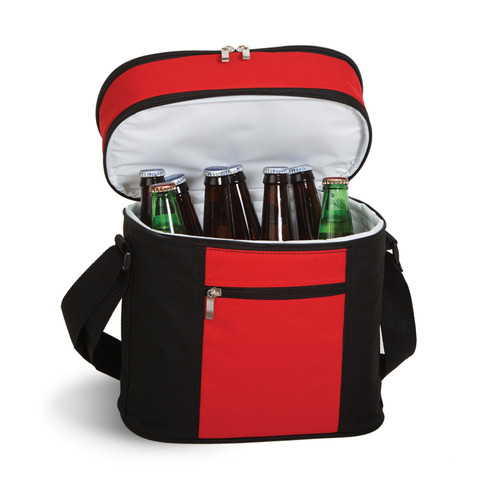 """12"""" Red and Black Insulated Cooler Bag - IMAGE 1"""