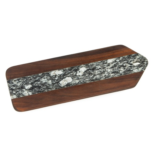 """16"""" Brown Wood Tegan Marble Serving Board - IMAGE 1"""
