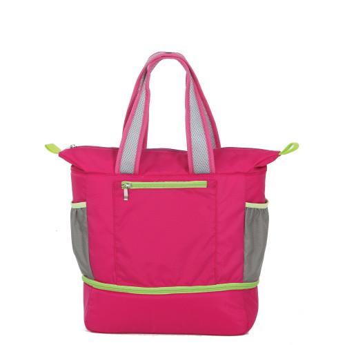 "15"" Helix Pink Expandable Cooler Bag - IMAGE 1"