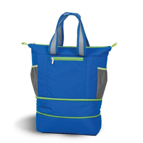 """15"""" Helix Blue Expandable Cooler Bag - IMAGE 1"""