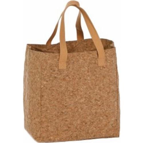 """13"""" Light Brown Cork Bottle Bag - IMAGE 1"""
