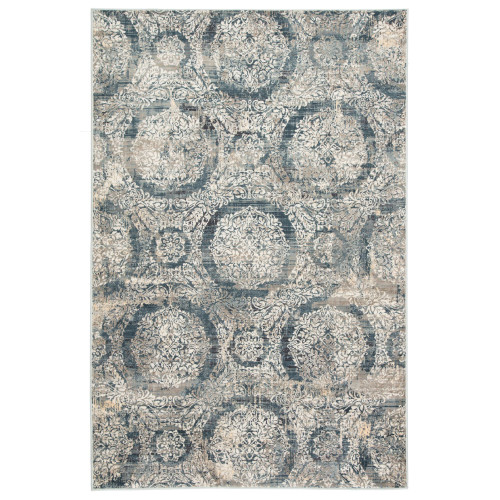 8.8' x 12' Blue and Gray Transitional Rectangular Area Throw Rug - IMAGE 1