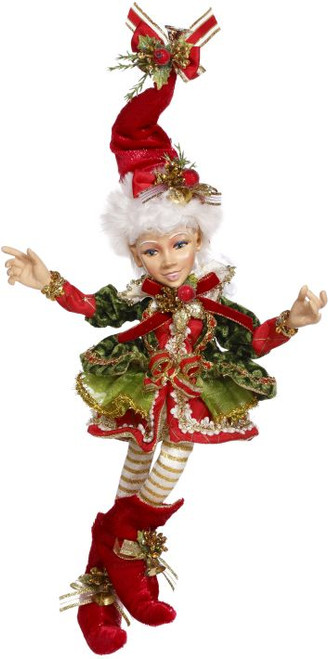"17"" Red and White Holly Belle Mark Roberts Christmas Elf Ornament - IMAGE 1"