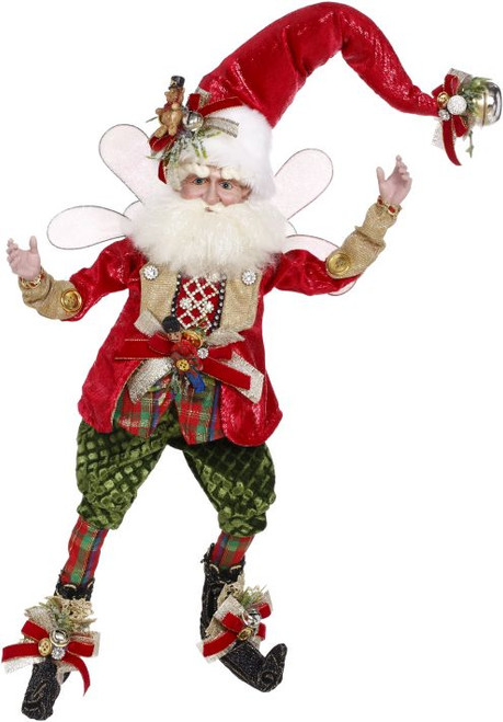 "20"" Red and White Mark Roberts Santa Claus Collectible Christmas Figurine - Large - IMAGE 1"