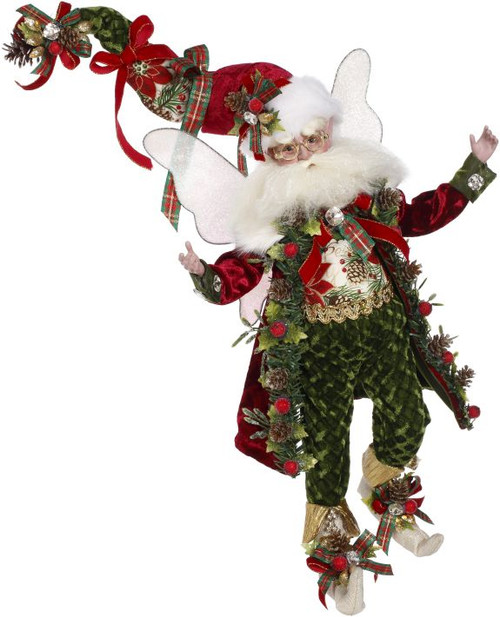 "15"" Red and Green Mark Roberts Kris Kringle Christmas Fairy Figure - IMAGE 1"