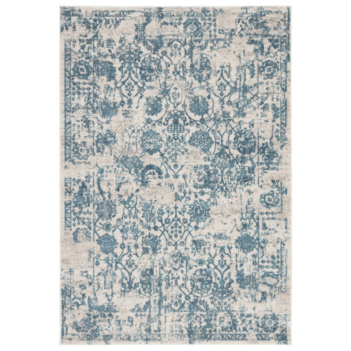 10' x 14' Blue and Gray Transitional Rectangular Area Throw Rug - IMAGE 1