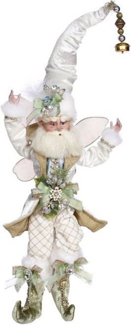 "16"" White and Gold Mark Roberts Christmas Fairy Ornament - IMAGE 1"