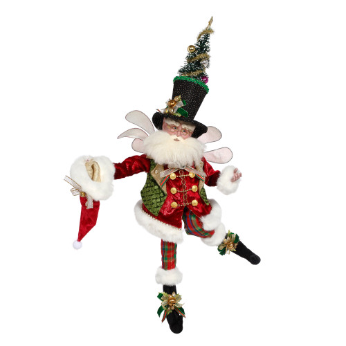 Red and Green Mark Roberts Collectible Bah Humbug Christmas Fairy, Large 27 - Inches - IMAGE 1