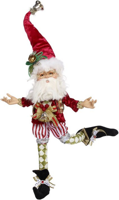 "13"" Red and White Northpole Mischief Fairy Christmas Figurine - IMAGE 1"