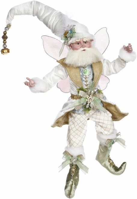 "19"" Ivory and Green Wintermint Mark Roberts Christmas Fairy Ornament - IMAGE 1"