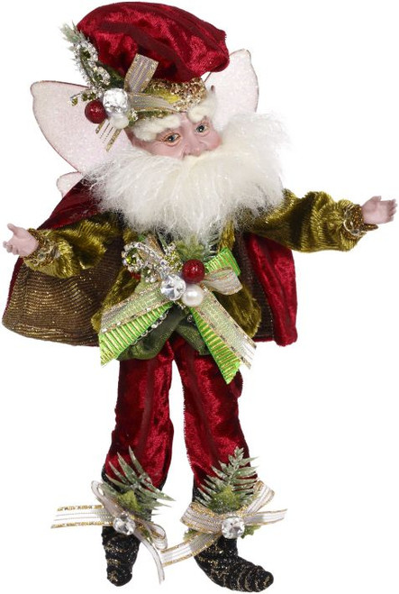 "10"" White and Red Luxe Lodge Christmas Fairy Figure - IMAGE 1"