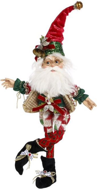 "13"" Green and Red Mark Roberts North Pole Worlds Fair Christmas Elf Figure - IMAGE 1"